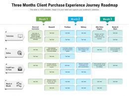 Three Months Client Purchase Experience Journey Roadmap