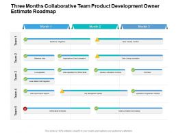 Three Months Collaborative Team Product Development Owner Estimate Roadmap