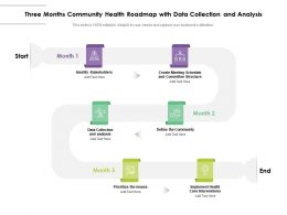 Three Months Community Health Roadmap With Data Collection And Analysis