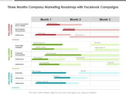 Three Months Company Marketing Roadmap With Facebook Campaigns