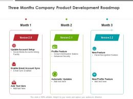 Three Months Company Product Development Roadmap