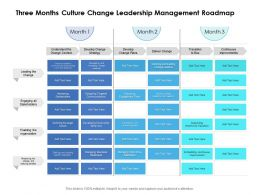 Three Months Culture Change Leadership Management Roadmap