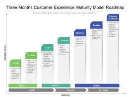 Three Months Customer Experience Maturity Model Roadmap