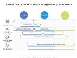 Three Months Customer Experience Strategy Development Roadmap