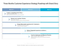 Three Months Customer Experience Strategy Roadmap With Brand Story