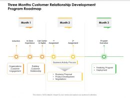 Three Months Customer Relationship Development Program Roadmap