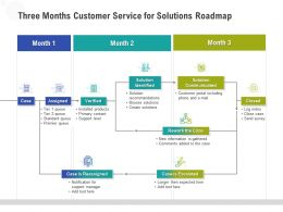 Three Months Customer Service For Solutions Roadmap