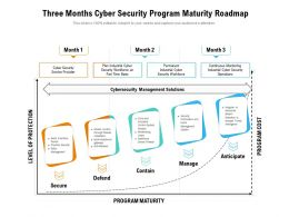 Three Months Cyber Security Program Maturity Roadmap