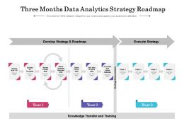 Three Months Data Analytics Strategy Roadmap