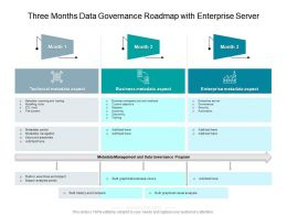 Three Months Data Governance Roadmap With Enterprise Server