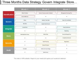 Three Months Data Strategy Govern Integrate Store Security Swim Lane