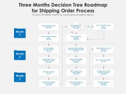 Three Months Decision Tree Roadmap For Shipping Order Process