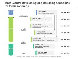 Three Months Developing And Designing Guidelines For Thesis Roadmap
