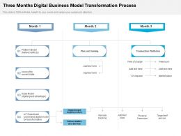 Three Months Digital Business Model Transformation Process