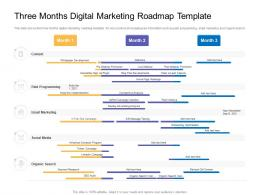 Three Months Digital Marketing Roadmap Timeline Powerpoint Template