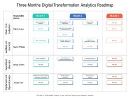 Three Months Digital Transformation Analytics Roadmap
