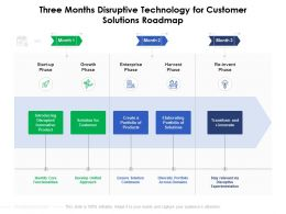 Three Months Disruptive Technology For Customer Solutions Roadmap