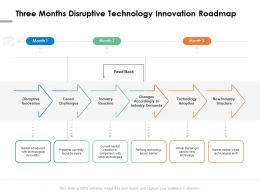 Three Months Disruptive Technology Innovation Roadmap