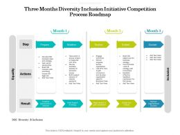 Three Months Diversity Inclusion Initiative Competition Process Roadmap