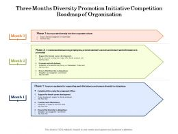 Three Months Diversity Promotion Initiative Competition Roadmap Of Organization