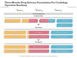 Three Months Drug Delivery Formulation For Cardiology Operation Roadmap