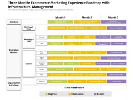 Three Months Ecommerce Marketing Experience Roadmap With Infrastructural Management