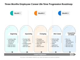 Three Months Employee Career Life Time Progression Roadmap