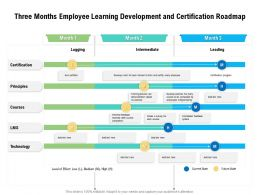 Three Months Employee Learning Development And Certification Roadmap