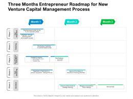 Three Months Entrepreneur Roadmap For New Venture Capital Management Process