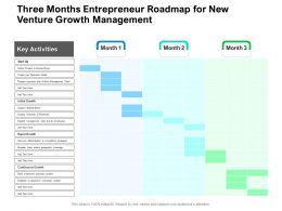 Three Months Entrepreneur Roadmap For New Venture Growth Management
