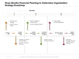 Three Months Financial Planning To Determine Organization Strategy Roadmap