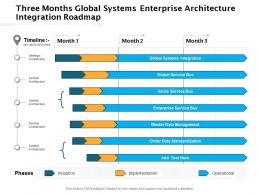 Three Months Global Systems Enterprise Architecture Integration Roadmap