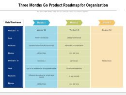 Three Months Go Product Roadmap For Organization