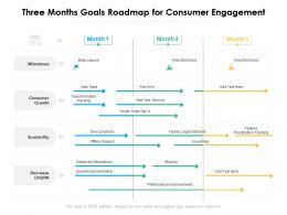 Three Months Goals Roadmap For Consumer Engagement