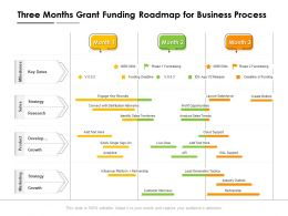 Three Months Grant Funding Roadmap For Business Process
