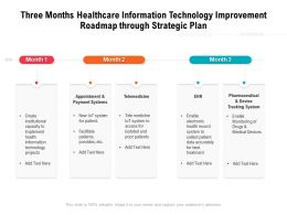 Three Months Healthcare Information Technology Improvement Roadmap Through Strategic Plan