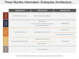 Three Months Information Enterprise Architecture Swimlane