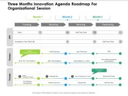 Three Months Innovation Agenda Roadmap For Organizational Session