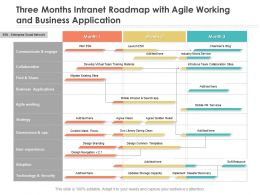 Three Months Intranet Roadmap With Agile Working And Business Application