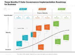 Three Months IT Data Governance Implementation Roadmap For Business