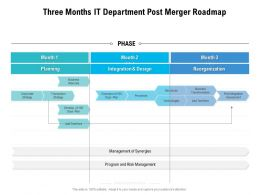 Three Months IT Department Post Merger Roadmap