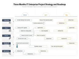 Three Months IT Enterprise Project Strategy And Roadmap