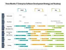 Three Months IT Enterprise Software Development Strategy And Roadmap