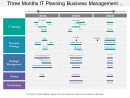 Three Months It Planning Business Management And It Strategy Timeline