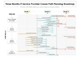 Three Months IT Service Provider Career Path Planning Roadmap