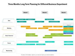 Three Months Long Term Planning For Different Business Department