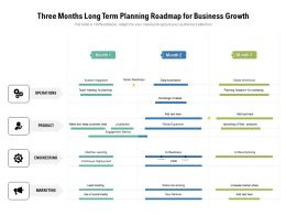 Three Months Long Term Planning Roadmap For Business Growth