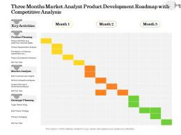 Three Months Market Analyst Product Development Roadmap With Competitive Analysis