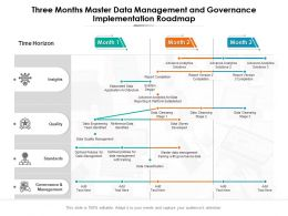 Three Months Master Data Management And Governance Implementation Roadmap