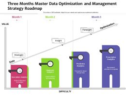 Three Months Master Data Optimization And Management Strategy Roadmap